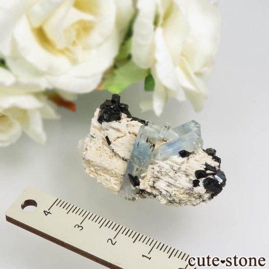 ナミビア エロンゴ産 アクアマリン&ブラックトルマリンの結晶(原石)17.7gの写真3 cute stone