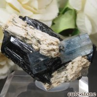 ナミビア エロンゴ産 アクアマリン&ブラックトルマリンの結晶(原石)15.3gの画像