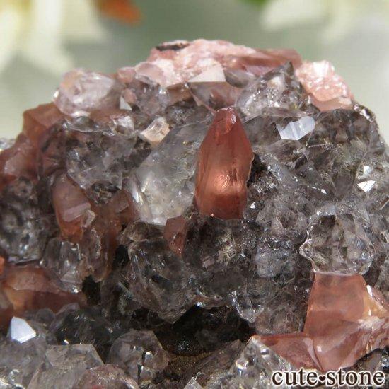 ペルー Uchucchacua Mine産 ロードクロサイト&クォーツの母岩付き結晶(原石)45.4gの写真3 cute stone