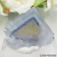 フランス La Barre Mine産 ブルー×イエローフローライトの結晶(原石) 9.9gの画像