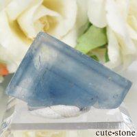 フランス La Barre Mine産 ブルーフローライトの結晶(原石) 11.4gの画像