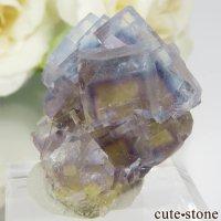 フランス La Barre Mine産 ブルー×イエローフローライトの結晶(原石) 12.6gの画像