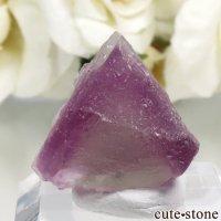 アメリカ ニューメキシコ州 Surprise Mine産 パープル×グリーンフローライトの結晶(原石) 6.7gの画像