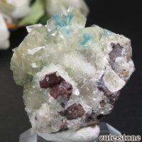 インド プネー Wagholi産 カバンサイトインカルサイトの母岩付き結晶(原石) 6.6gの画像