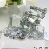 中国 Xianghualing Mine産 グリーンフローライトの結晶 6.3gの画像