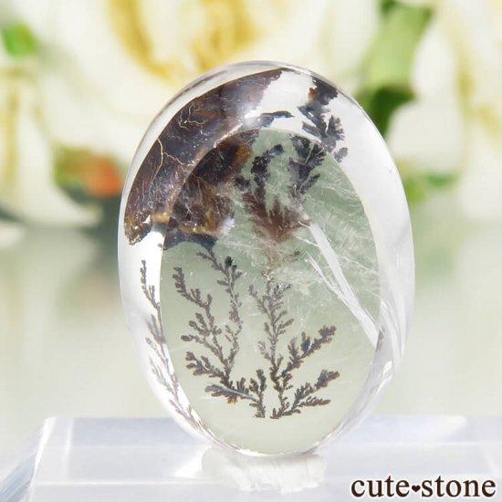 ブラジル産 デンドリティッククォーツのルース 12.6ctの写真1 cute stone