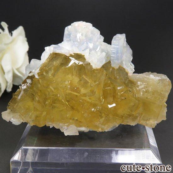 スペイン Moscona Mine鉱山産 イエローフローライト&バライト 94.3g