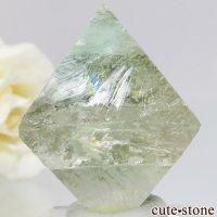 カナダ Mont Saint-Hilaire産 八面体(へき開結晶)グリーンフローライト(蛍石)28.4g の画像