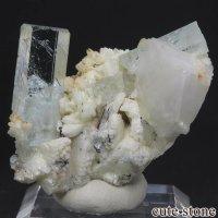 パキスタン シガル産 アクアマリンの母岩付き結晶(原石) 16.7gの画像