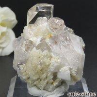 パキスタン シガル産 トパーズ&クォーツの母岩付き結晶(原石) 29gの画像