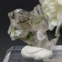 フランス アルプス(Les Deux Alpes)産 クォーツ&エピドートの結晶 2.3gの画像