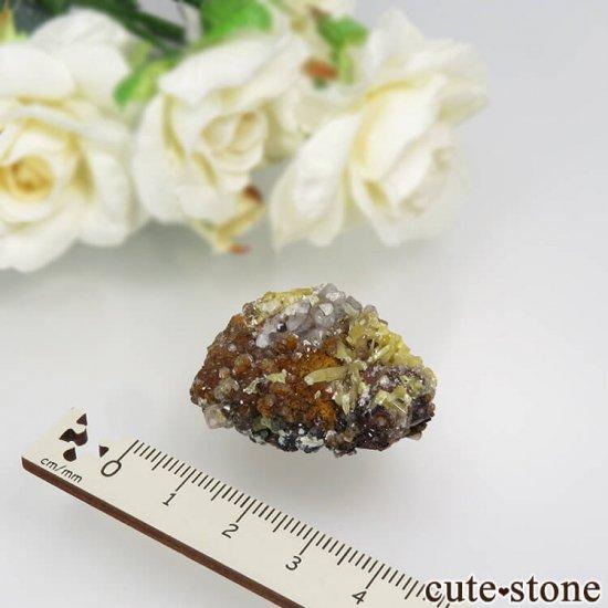 ナミビア Tsumeb産 ミメタイト&スミソナイト&カルサイト 22.9gの写真3 cute stone