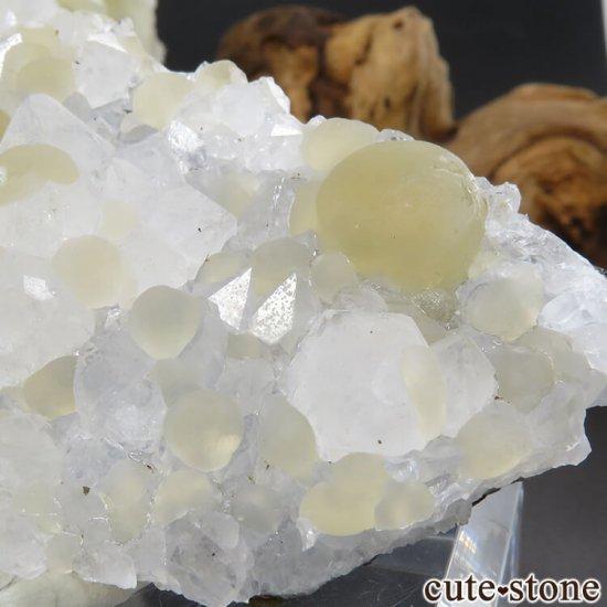 インド産 球体イエローフローライト&クォーツの原石 74.9gの写真3 cute stone