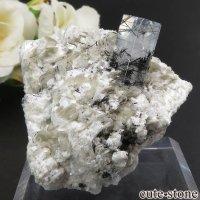 パキスタン Chumar Bakhoor産 アクアマリン&モスコバイト&ブラックトルマリンの結晶(原石) 42gの画像