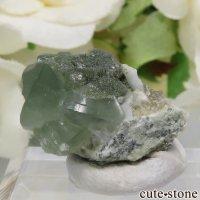 フランス La Combe de la Selle産 プレナイト&エピドートの結晶 3.6gの画像