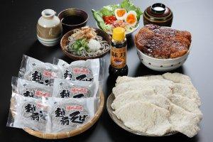 ソースカツ丼・越前そばセット 【お歳暮にもおすすめ!冷凍配送】
