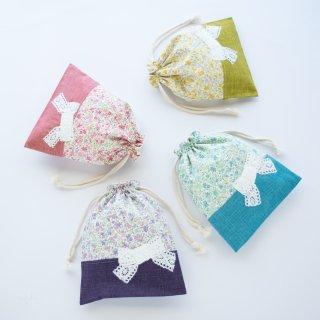 花柄&リボンの給食袋