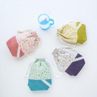 花柄&レースのコップ袋