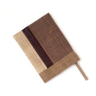 印伝ブックカバー(文庫本サイズ) 茶