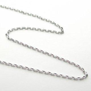 K18ホワイトゴールド アズキ「小豆」チェーン 50cm 1.5mm