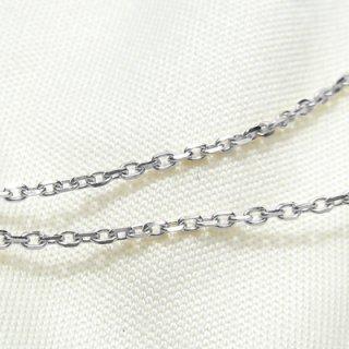 K18ホワイトゴールド アズキ「小豆」チェーン 45cm 1.2mm