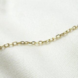 K18イエローゴールド アズキ「小豆」ブレスレット 18cm 1.1mm