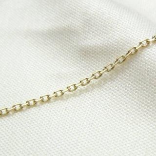 K18イエローゴールド アズキ「小豆」ブレスレット 18cm 1.2mm