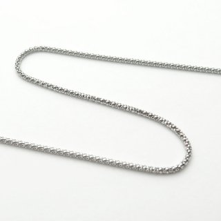 K18ホワイトゴールド カットポンパチェーン 45cm 1.3mm