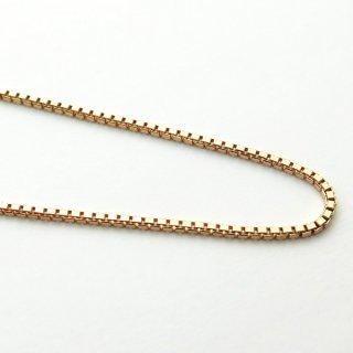 K18ピンクゴールド ベネチアンチェーン 40cm 1.2mm