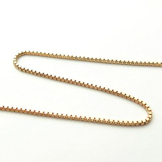K18ピンクゴールド ベネチアンチェーン 45cm 1.0mm