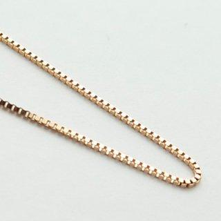K18ピンクゴールド ベネチアンブレスレット 18cm 0.6mm
