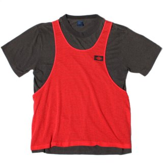 <img class='new_mark_img1' src='https://img.shop-pro.jp/img/new/icons14.gif' style='border:none;display:inline;margin:0px;padding:0px;width:auto;' />1980's NIKE AIR JORDAN T-SHIRT MESH TANK LAYERED (BLACK x RED)