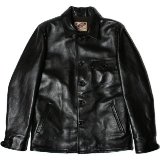<img class='new_mark_img1' src='//img.shop-pro.jp/img/new/icons47.gif' style='border:none;display:inline;margin:0px;padding:0px;width:auto;' />Y'2 LEATHER LS-16 ANILINE HORSE SHIRT JKT (CAR COAT)  Black