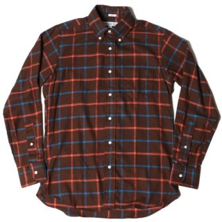 <img class='new_mark_img1' src='https://img.shop-pro.jp/img/new/icons21.gif' style='border:none;display:inline;margin:0px;padding:0px;width:auto;' />INDIVIDUALIZED SHIRTS Standard Fit Long Sleeve B.D Shirt - CHECK BROWN x ORANGE