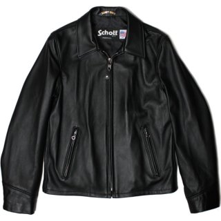 Schott 223US LAMBSKIN TRUCKER JACKET BLACK