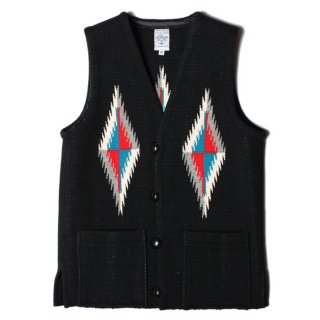 <img class='new_mark_img1' src='//img.shop-pro.jp/img/new/icons21.gif' style='border:none;display:inline;margin:0px;padding:0px;width:auto;' />ORTEGA'S SQUARE FRONT CHIMAYO VEST BLACK MADE IN USA