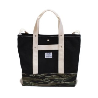 <img class='new_mark_img1' src='//img.shop-pro.jp/img/new/icons21.gif' style='border:none;display:inline;margin:0px;padding:0px;width:auto;' /> HERITAGE LEATHER POP TOTE BAG / SHOULDER BAG (8093) - Black / Tiger Camo