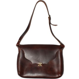 Fernand Leather Horizontal Latch Pouch Large Brown