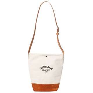 <img class='new_mark_img1' src='https://img.shop-pro.jp/img/new/icons21.gif' style='border:none;display:inline;margin:0px;padding:0px;width:auto;' />HERITAGE LEATHER SUEDE BOTTOM BUCKET SHOULDER BAG NATURAL/TOAST BROWN 8661