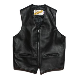 <img class='new_mark_img1' src='https://img.shop-pro.jp/img/new/icons47.gif' style='border:none;display:inline;margin:0px;padding:0px;width:auto;' />Schott 693V LEATHER ZIP FRONT M/C VEST