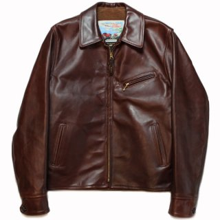 <img class='new_mark_img1' src='https://img.shop-pro.jp/img/new/icons21.gif' style='border:none;display:inline;margin:0px;padding:0px;width:auto;' />AERO LEATHER HALF BELTED STF - FRONT QUARTER HORSEHIDE BROWN - alpaca lining