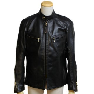 <img class='new_mark_img1' src='https://img.shop-pro.jp/img/new/icons21.gif' style='border:none;display:inline;margin:0px;padding:0px;width:auto;' />AERO LEATHER BOARD RACER FRONT QUARTER HORSEHIDE BLACK