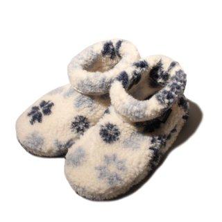 <img class='new_mark_img1' src='https://img.shop-pro.jp/img/new/icons21.gif' style='border:none;display:inline;margin:0px;padding:0px;width:auto;' /> ALWERO Room Shoes -fuji DADO - niebieski sniezki 【正規 アルベロ ルームシューズ フジライン ダド 結晶柄ブルー】