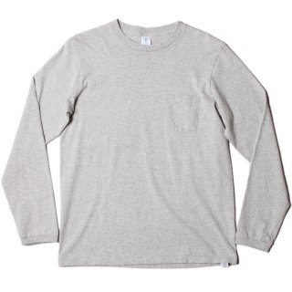 <img class='new_mark_img1' src='https://img.shop-pro.jp/img/new/icons21.gif' style='border:none;display:inline;margin:0px;padding:0px;width:auto;' />VELVA SHEEN L/S CREW NECK POCKET T-SHIRT 1P H.GREY