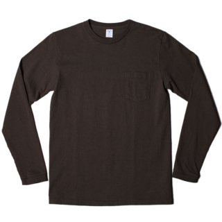 <img class='new_mark_img1' src='https://img.shop-pro.jp/img/new/icons21.gif' style='border:none;display:inline;margin:0px;padding:0px;width:auto;' /> VELVA SHEEN L/S CREW NECK POCKET T-SHIRT 1P BLACK