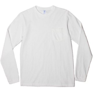 <img class='new_mark_img1' src='https://img.shop-pro.jp/img/new/icons20.gif' style='border:none;display:inline;margin:0px;padding:0px;width:auto;' />VELVA SHEEN L/S CREW NECK POCKET T-SHIRT 1P WHITE