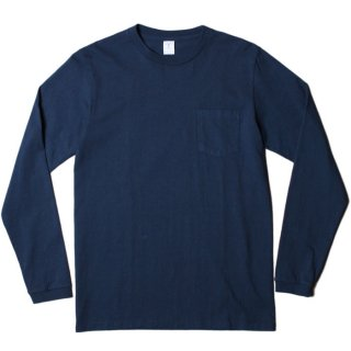 <img class='new_mark_img1' src='https://img.shop-pro.jp/img/new/icons21.gif' style='border:none;display:inline;margin:0px;padding:0px;width:auto;' />VELVA SHEEN L/S CREW NECK POCKET T-SHIRT 1P NAVY