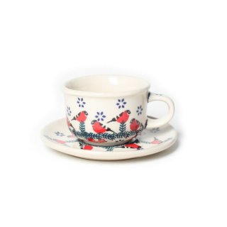 <img class='new_mark_img1' src='https://img.shop-pro.jp/img/new/icons47.gif' style='border:none;display:inline;margin:0px;padding:0px;width:auto;' />Polish Pottery Espressocup&Saucer