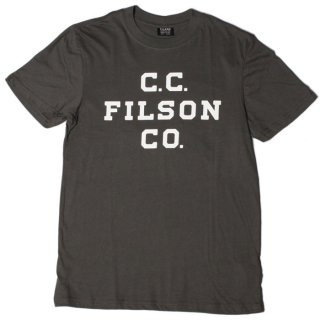 <img class='new_mark_img1' src='https://img.shop-pro.jp/img/new/icons20.gif' style='border:none;display:inline;margin:0px;padding:0px;width:auto;' />FILSON LIGHTWEIGHT GRAPHIC T-SHIRT FILSON LOGO Charcoal  #14910 2019FW COLLECTION