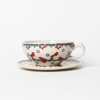 <img class='new_mark_img1' src='https://img.shop-pro.jp/img/new/icons14.gif' style='border:none;display:inline;margin:0px;padding:0px;width:auto;' />Polish Pottery Cup&Saucer F43-GCR